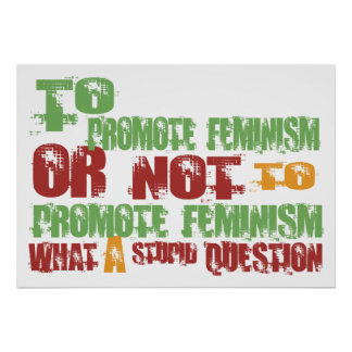 Para promover feminismo poster