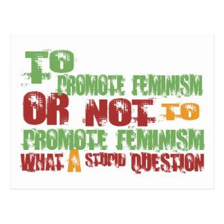 Para promover feminismo tarjetas postales