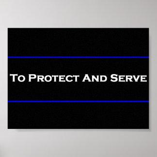 Para proteger y servir el poster