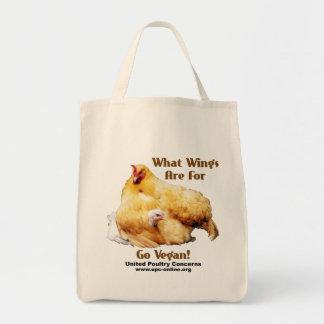 Para qué alas esté - va el vegano