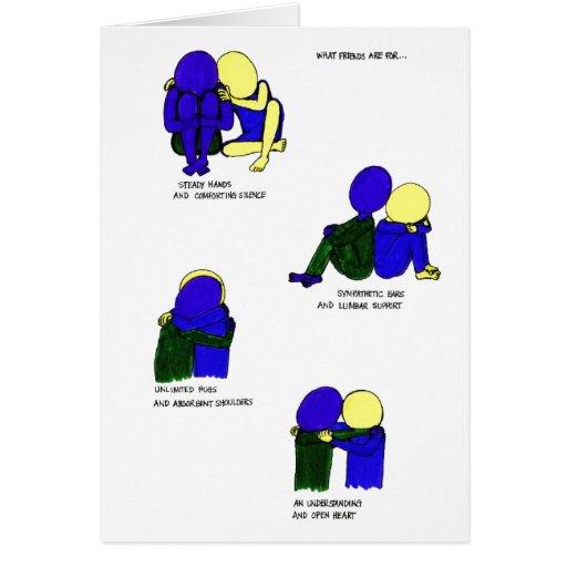 Para qué amigos esté tarjeta de felicitación