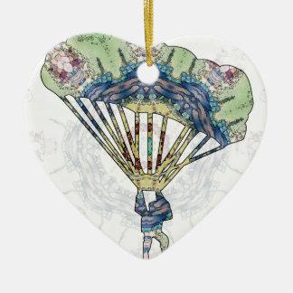 Para que deslizan 01 adorno navideño de cerámica en forma de corazón