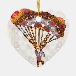 Para que deslizan 05 adorno navideño de cerámica en forma de corazón