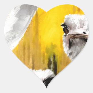 para querer tuvo que do_Painting.jpg Pegatina En Forma De Corazón