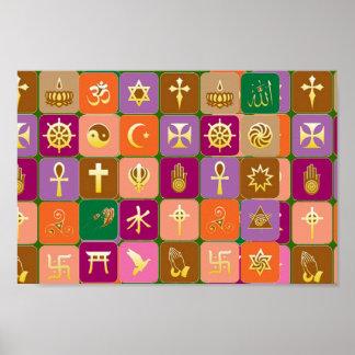 Para razonable: RESPECTO por TODAS LAS RELIGIONES Póster