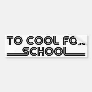 Para refrescarse para la escuela pegatina para auto