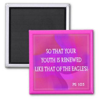 para renovar su juventud imán cuadrado