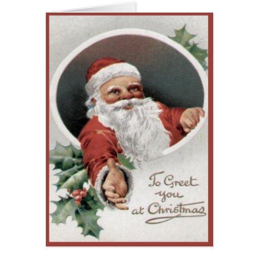 Para saludarle en el navidad tarjetas