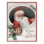 Para saludarle en el navidad tarjetas postales