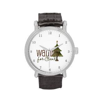 Para Santa que espera - árbol de navidad Reloj