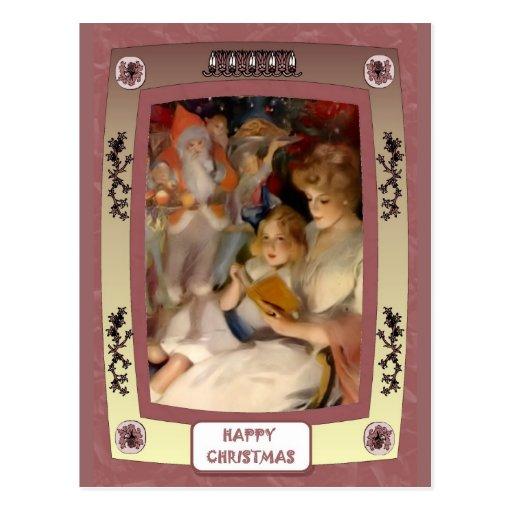 Para Santa que espera Postales