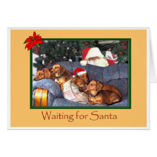 Para Santa que espera Tarjetas
