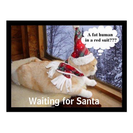 Para Santa que espera Tarjeta Postal