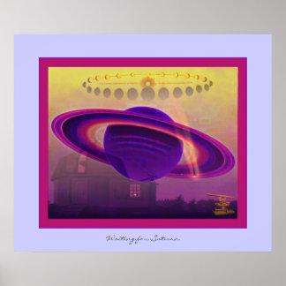 Para Saturn que espera Póster