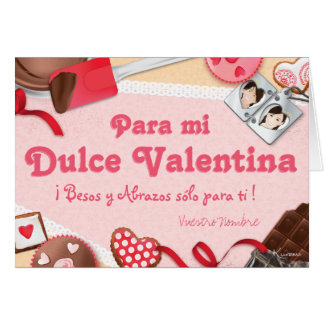Para semi Valentina ¡ Besos there Abrazos sólo Card
