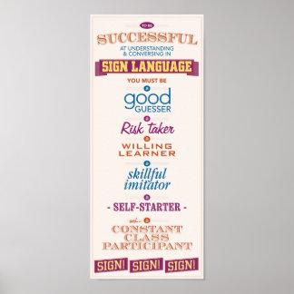 Para ser acertado en el ASL Póster