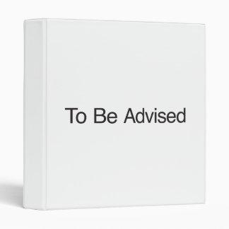 Para ser aconsejado