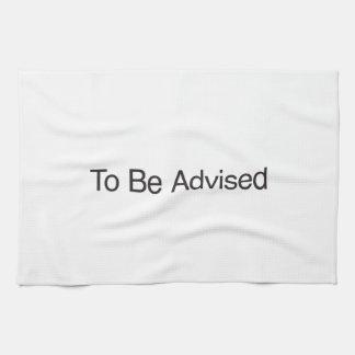 Para ser aconsejado toalla