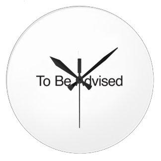 Para ser aconsejado reloj
