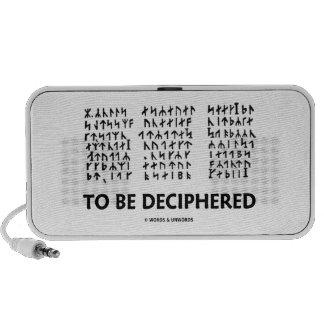 Para ser descifrado (criptograma rúnico de Jules V iPod Altavoz