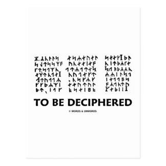 Para ser descifrado (criptograma rúnico de Jules V Tarjeta Postal