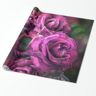 Para ser papel de regalo color de rosa púrpura