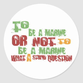 Para ser un infante de marina pegatina redonda