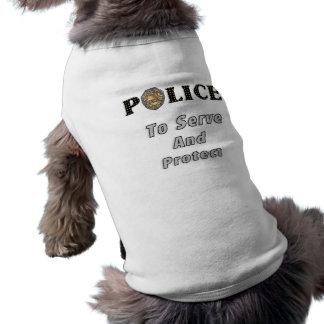 Para servir y proteger playera sin mangas para perro