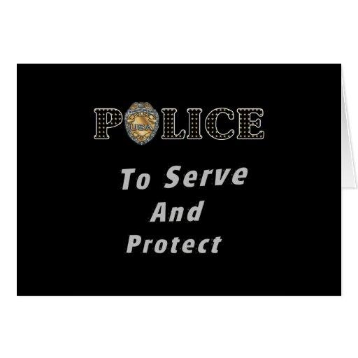Para servir y proteger tarjeta pequeña