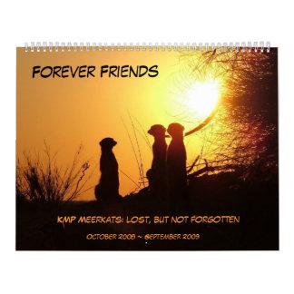 Para siempre amigos - calendario de Meerkat