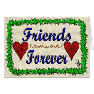 Para siempre amigos tarjeta de felicitación