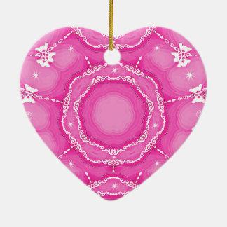 Para siempre amor, siempre Loved_ Adorno Navideño De Cerámica En Forma De Corazón
