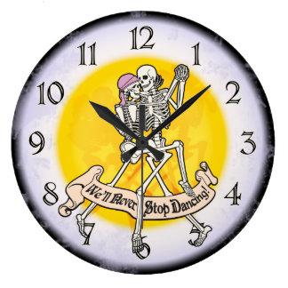 Para siempre bailando reloj redondo grande