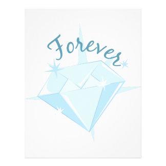 Para siempre diamante membrete personalizado