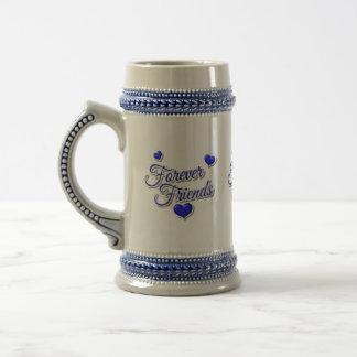 para siempre diseños de los amigos jarra de cerveza