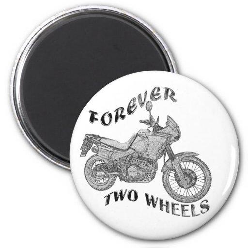 Para siempre dos ruedas - motorista iman de frigorífico