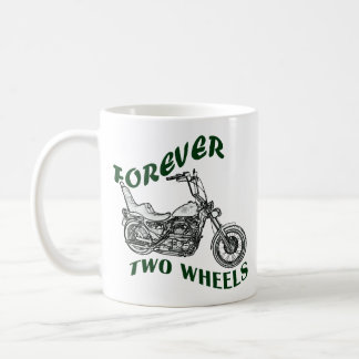 Para siempre dos ruedas - motorista taza básica blanca