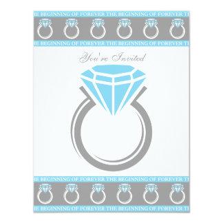 Para siempre ducha nupcial del anillo invitación 10,8 x 13,9 cm