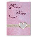 Para siempre el suyo tarjeta romántica