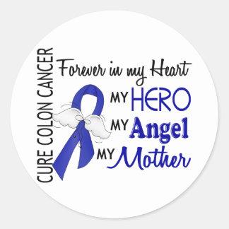 Para siempre en mi cáncer de colon de la madre del pegatina redonda