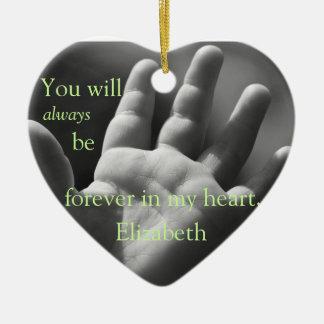 Para siempre en mi corazón, modificado para adornos