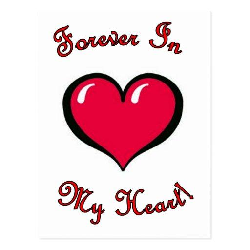 Para siempre en mi corazón tarjeta postal