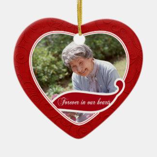 Para siempre en nuestro navidad de los corazones ornamentos para reyes magos