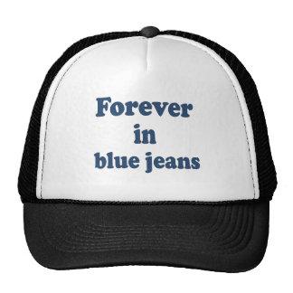 Para siempre en ropa de los tejanos gorros