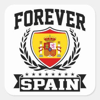 Para siempre España Pegatina Cuadrada