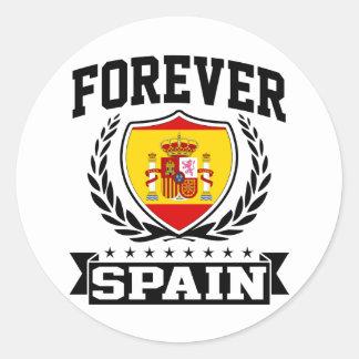 Para siempre España Pegatina Redonda
