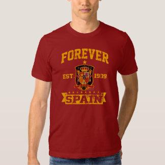 Para siempre fan del equipo de fútbol de España Polera