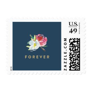 Para siempre floral sello postal
