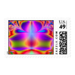 Para siempre fractal del color timbres postales
