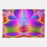 Para siempre fractal del color toalla de cocina